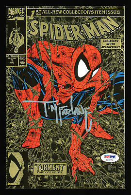 Todd McFarlane Signed Marvel Spider-Man 1990 Torment #1 Comic Book PSA #AC47755