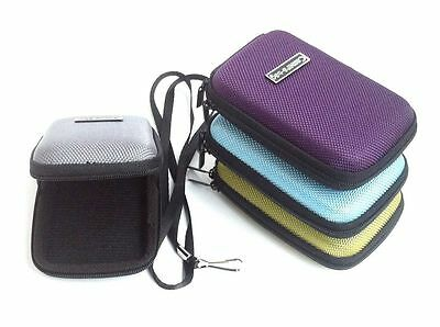 Pink Compact Universal Hard Shell Case Zip Bag for Small Digital Camera