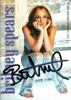 Britney Spears Authentic Vintage Signed Trading Card Autographed JSA #K55417