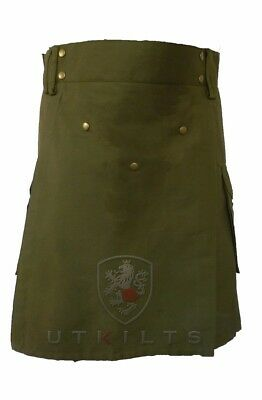 Olive Green Ultimate Utility Kilt withComfort Waist