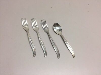 TWA Silver Replacement Lot Fork x 3 Spoon x 1 silverware