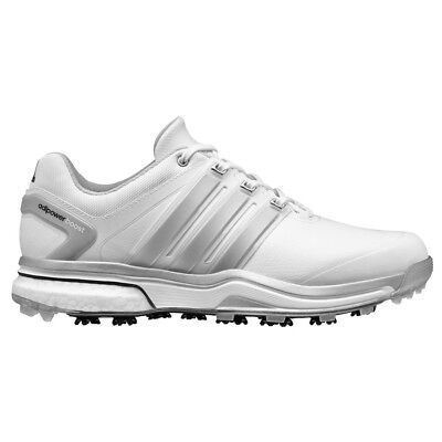 New Men's Adidas Adipower Boost White/Grey Golf Shoes Q46752/Q44540- Pick A Size
