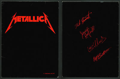 Rare Metallica Metal Militia Fan Club Folder 1987