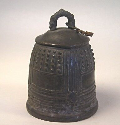 An Antique Cast Metal Chinese Bell T44