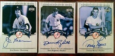 3 x Yankees Signature Series-Pride of New York signed baseball cards