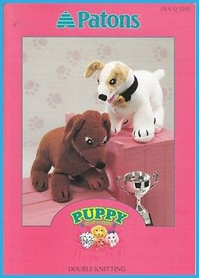 Patons Knitting Pattern Book Puppy in My Pocket ~ 2 Cute pattern  DK 8 Ply