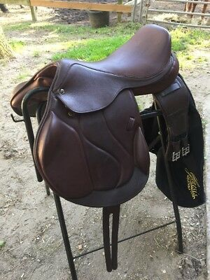 Marcel Toulouse Marielle Genesis Monoflap English Saddle 17 Inch With Girth