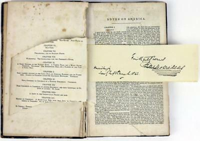 Charles Dickens American Notes Signed Book Very Rare Autograph PSA/DNA #T02691