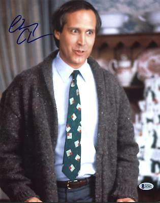 Chevy Chase Christmas Vacation Authentic Signed 11X14 Photo BAS Witnessed 4