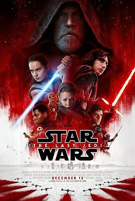 """""""Star Wars THE LAST JEDI"""" Modern Classic Movie Poster A1A2A3A4Sizes"""