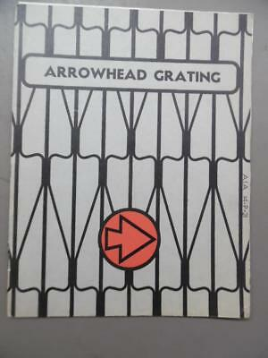 c.1925 Arrowhead Iron Works Steel Flooring Grating Catalog Kansas City Vintage
