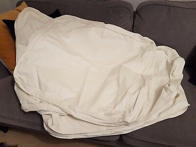 IKEA Ektorp Sofa Bed Covers (2 Seater) in White Cotton fabric - Covers Only