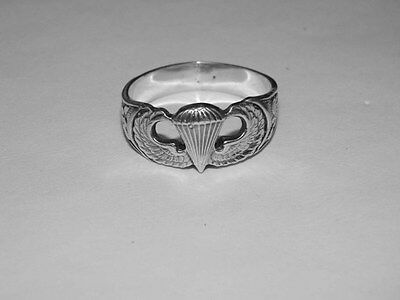 WW2 US Airborne Paratrooper Sterling Silver Ring
