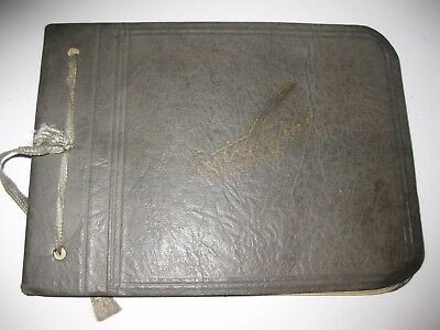 Vintage 1929 Autograph Book filled with messages