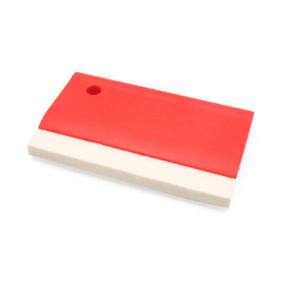 Car Wrap Wrapping Felt Edge Vinyl Squeegee Decal Scraper Application Tool Red