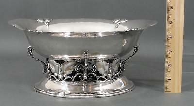 Antique Art & Crafts Secessionist Konst Tenn Swedish Hammered Silverplate Bowl