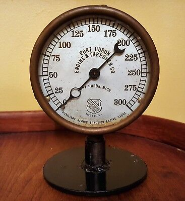 Antique Auxilary Spring Traction Engine Gauge Port Huron Engine & Thresher Co.