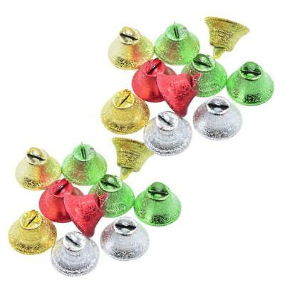 20pcs Metal Trumpet Bells For Christmas Tree Decor Handmade Jewelry Pendants