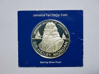 Jamaica 1974 $10 Sir Henry Morgan Proof Dcameo Silver World Coin Collection Lot