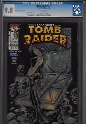Tomb Raider Cgc # 15 Rare Dynamic Forces Edition Red Foil Seldom Seen Limited