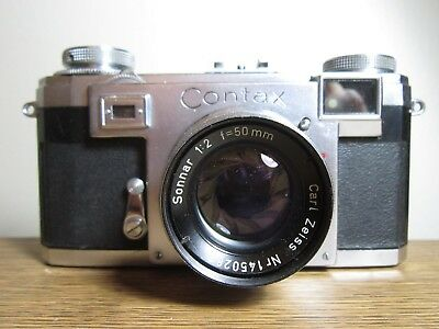 Zeiss Ikon Contax IIa Camera with 35mm f2/50mm Sonnar Lens and Case