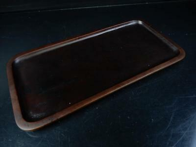 J4269: Japanese Hollowed out WOODEN TRAY/plate Senchabon Tea Ceremony