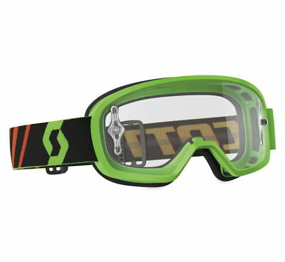 Scott USA Buzz Youth MX/Offroad Goggles w/Clear Lens Fluorescent Green