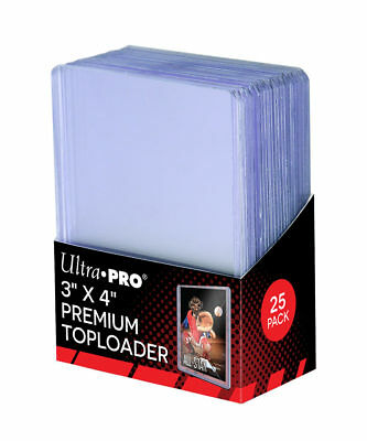"Ultra Pro 3"" x 4"" SUPER CLEAR PREMIUM Toploader Card Protectors - Packet of 25"