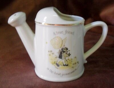 Vintage Holly Hobbie Porcelain Watering Can A True Friend Is The Best Possession