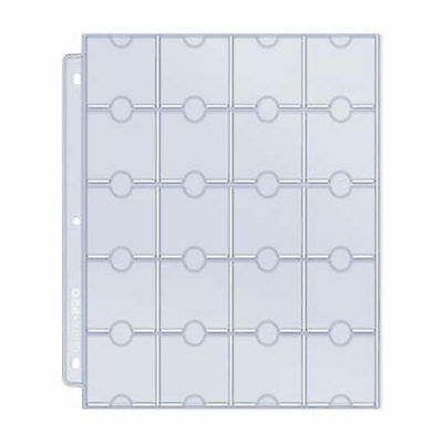 Ultra Pro 20-Pocket Platinum Page for Coin Holders  - Suit 3 Ring Binders