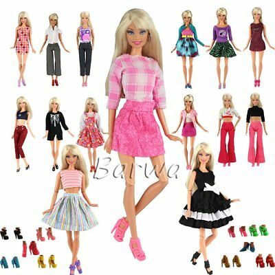 Kids Christmas Gift Toys 5 Sets Barbie Doll Fashion Casual Wear Clothes