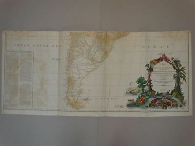 South America Südamerika - Kupferstich engraving map Karte Anville Laurie 1794