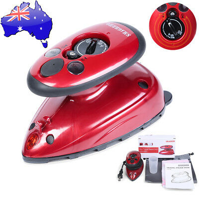 AU Mini Electric Iron for Travel Home Application Steam Electric Iron Handheld #