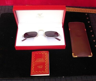 Vintage Cartier Vendome Demi Lune 50Mm '87 Sunglasses Elton John France