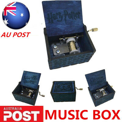 Harry Potter Game of Thrones Merry Christmas Style Music Box Wooden Xmas Gift AU