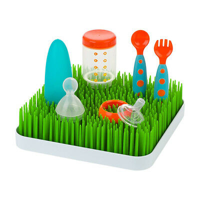 Baby Bottle Dish Grass Lawn Drying Rack For Dishes Sippy Cups Cutlery Holder New
