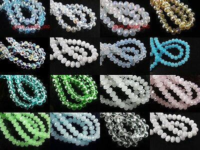 Wholesale 200pcs 3mm Faceted Glass Crystal Loose Beads Spacer Rondelle bead New