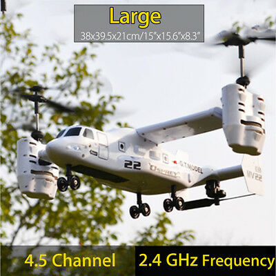 Osprey 2.4GHz Military Transport Chooper Aircraft Helicopter RC Drone Flying Toy
