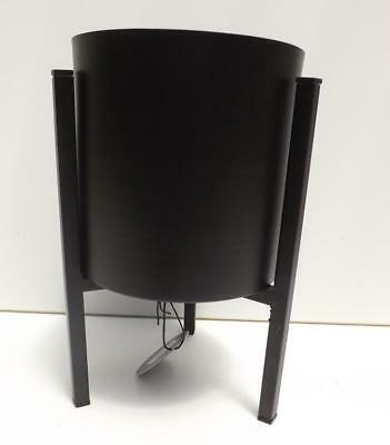 Modern Black  Metal Plant Pot With Stand  Decor New