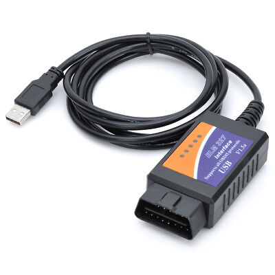 OBD2 OBDII ELM327 V1.5 USB Car CAN BUS Diagnostic Auto Interface Scanner Adapter