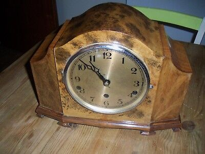 Vintage  Westminster  Chiming Mantel Clock Key Wind