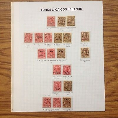 Turks and Caicos Is. WAR TAX collection of 20