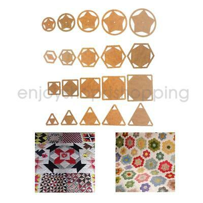5pcs Assorted Shape Acrylic Quilting Templates Patchwork Template Sewing Crafts