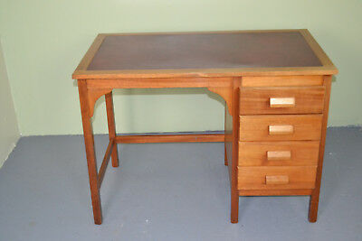 Retro leather topped writing desk