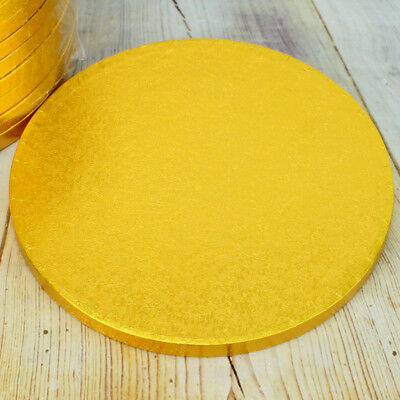 Gold Round Cake Drums / Cake Boards