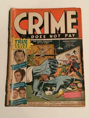 Crime Does Not Pay #22 Lev Gleason Pre-code low grade SCARCE pics in descrp