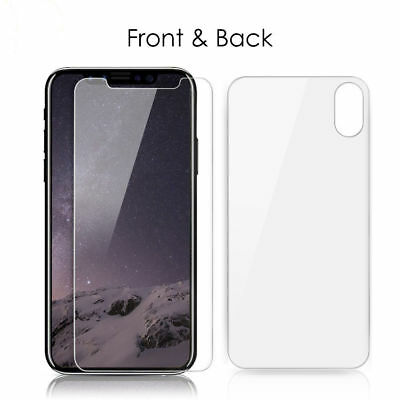 HOT Front + Back Tempered Glass HD Screen Protector For iPhone X/10/Ten/8/8Plus