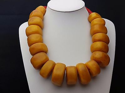 Moroccan Wedding Jewelry/African Amber Phenolic Synthetic Resin Pearls