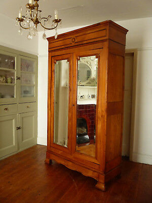 Antique Knockdown Louis Philippe Style French Armoire Wardrobe Cupboard