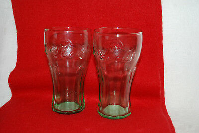 "Vintage 2 Libby  Coca-Cola Small Green Juice Glass 4.5"" Tall  Mint Condition"